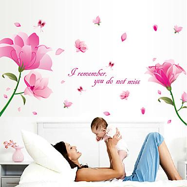 Cuvinte & Citate Romantic Florale Perete Postituri Autocolante perete plane Autocolante de Perete Decorative,Hârtie MaterialPagina de