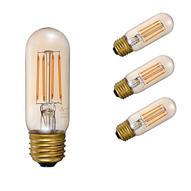 GMY® 4PCS 3.5W 300lm E26 مصابيحLED T 4 الخرز LED COB تخفيت ديكور خمري 110-130V