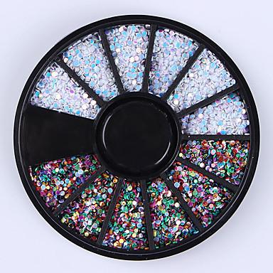 1box Nail Art Decoration Rhinestone Perły Kosmetyki do makijażu Nail Art Design