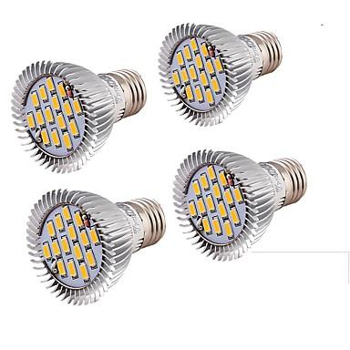 E26/E27 Żarówki punktowe LED MR16 15 Diody lED SMD 5630 Dekoracyjna Ciepła biel 650lm 3000
