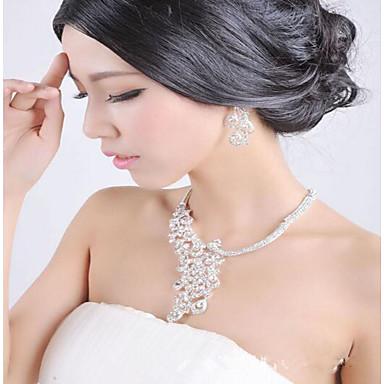 Naisten Korusetti Synteettinen timantti Morsius Häät Party Päivittäin Timanttijäljitelmä Metalliseos Lintu Animal 1 Kaulakoru 1 Pari