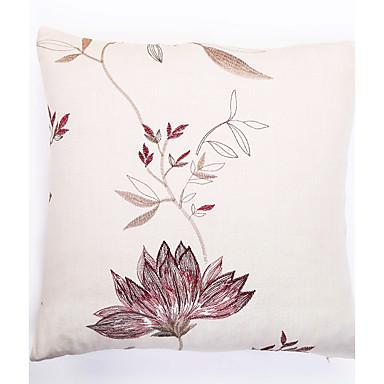 1 adet Polyester Yastık Kılıfı, Süslü ve Nakışlı Aksan / Dekoratif Geleneksel / Klasik
