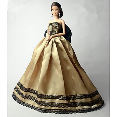 Πάρτι/Απόγευμα Φορέματα Για Κούκλα Barbie Δαντέλα Organza Φόρεμα Για Κορίτσια κούκλα παιχνιδιών