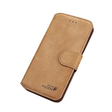 tok Για iPhone 7 Plus iPhone 7 Apple Θήκη καρτών Πορτοφόλι Ανοιγόμενη Πλήρης Θήκη Συμπαγές Χρώμα Σκληρή PU δέρμα για iPhone 7 Plus iPhone