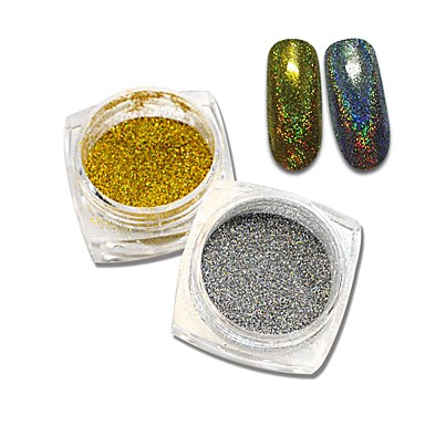 2bottles Biżuteria do paznokci / Glitter i Poudre / Taśma do zdejmowania folii Błyskotki / Klasyczny / Połyskujące Słodkie Codzienny