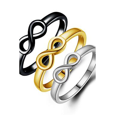 عصابة زفاف حزب مناسبة خاصة يوميا فضفاض مجوهرات سبيكة خواتم حزام خاتم خواتم ميدي 1PC,6 7 8 9 10 أسود فضة