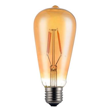 1 buc 4W 280-320 lm E26/E27 Bec Filet LED ST64 4 led-uri COB Decorativ Alb Cald AC 85-265V