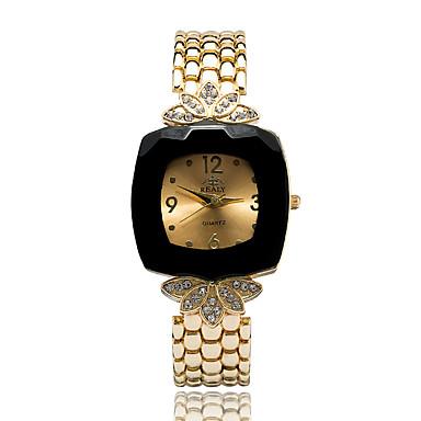 Damskie Kwarcowy Sztuczny Diamant Zegarek Zegarek na bransoletce Do sukni / garnituru sztuczna Diament Stop Pasmo Urok Kwiat Na co dzień