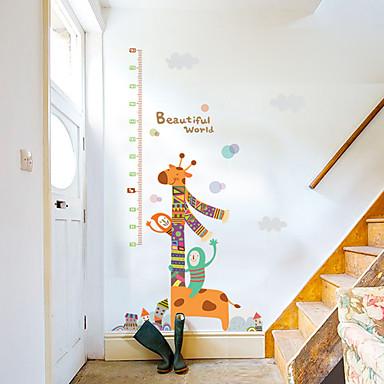 Hayvanlar Karton Moda Duvar Etiketler Uçak Duvar Çıkartmaları Dekoratif Duvar Çıkartmaları Yükseklik (Boy Ölçme) Çıkartmaları,Kağıt