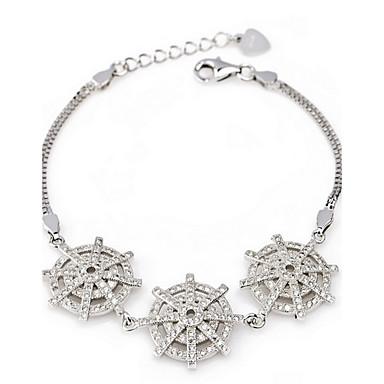 Kadın Zincir & Halka Bileklikler Vintage Doğa Moda Avrupa Som Gümüş Çapa Mücevher Uyumluluk Parti Doğumgünü