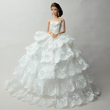 Ślub Sukienki Dla Lalka Barbie Sukienki Dla Dziewczyny Lalka Zabawka