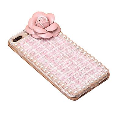 Için Kendin-Yap Pouzdro Arka Kılıf Pouzdro Solid Renkli Yumuşak Tekstil için Apple iPhone 7 Plus iPhone 7