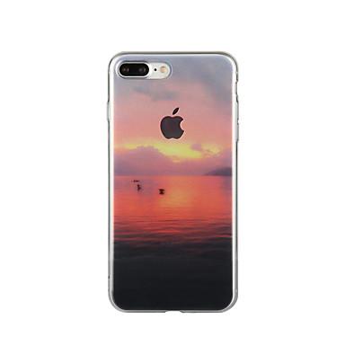 Kılıf Na Apple iPhone 6 iPhone 7 Plus iPhone 7 Wzór Czarne etui Krajobraz Miękkie TPU na iPhone 7 Plus iPhone 7 iPhone 6s Plus iPhone 6s
