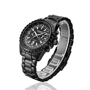 Erkek Spor Saat Elbise Saat Moda Saat Bilek Saati Quartz Takvim Alaşım Bant İhtişam Günlük Çok-Renkli