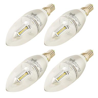 E14 LED Mum Işıklar C37 32 led SMD 3014 Dekorotif Sıcak Beyaz 250lm 3000K AC 220-240 AC 100-240 110-120V