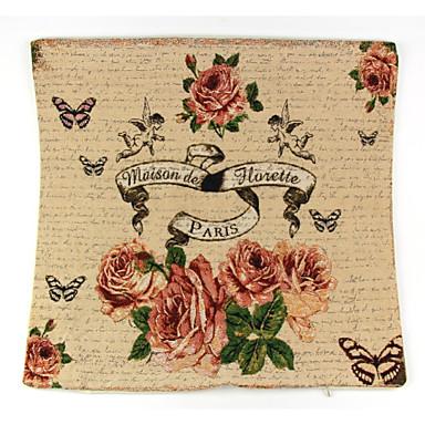 1 szt Bielizna Poszewka na poduszkę Pokrywa Pillow, Kwiaty Wzór zwierzęcy Wzory graficzne Martwa natura Textured Retro