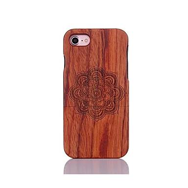 Varten Iskunkestävä Koristeltu Kuvio Etui Takakuori Etui Mandala Kova Puu varten AppleiPhone 7 Plus iPhone 7 iPhone 6s Plus/6 Plus iPhone