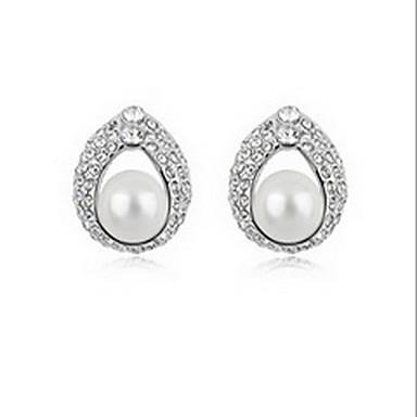 Γυναικεία Κουμπωτά Σκουλαρίκια Μαργαριταρένια Φύση Μαργαριτάρι Κράμα Cross Shape Κοσμήματα Κοσμήματα Για Καθημερινά