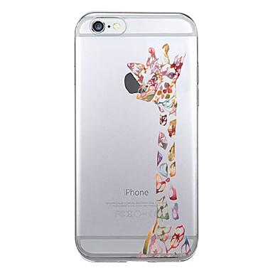 tok Για Apple Εξαιρετικά λεπτή Με σχέδια Πίσω Κάλυμμα Ζώο Μαλακή TPU για iPhone 7 Plus iPhone 7 iPhone 6s Plus iPhone 6 Plus iPhone SE/5s
