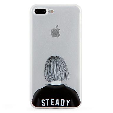 Pentru Model Maska Carcasă Spate Maska Femeie Sexy Moale TPU pentru Apple iPhone 7 Plus iPhone 7