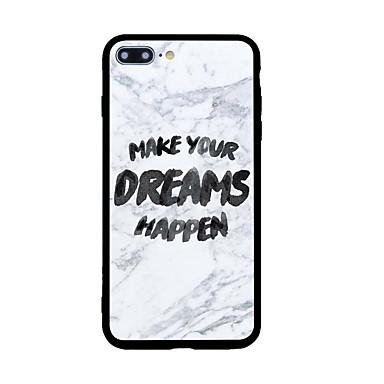 Etui Käyttötarkoitus Apple Kuvio Takakuori Sana / lause Kova Akryyli varten iPhone 7 Plus iPhone 7 iPhone 6s Plus iPhone 6s iPhone SE/5s