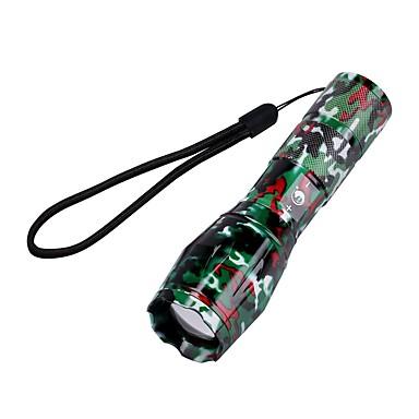 U'King LED taskulamput LED 2000 lm 5 Tila Cree XM-L T6 Zoomable Säädettävä fokus Telttailu/Retkely/Luolailu Päivittäiskäyttöön Monikäyttö