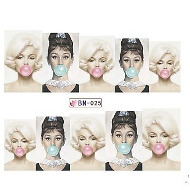 5pcs Sanat Sticker Nail Su Transfer Etiketi Makyaj Kozmetik Sanat Tasarım Nail