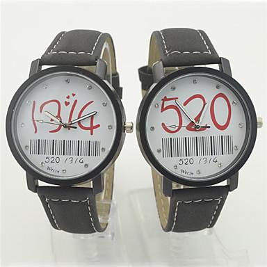 Bărbați pentru Doamne Pentru cupluri Ceas La Modă Ceas de Mână Piloane de Menținut Carnea Plastic Bandă Cool Casual Negru