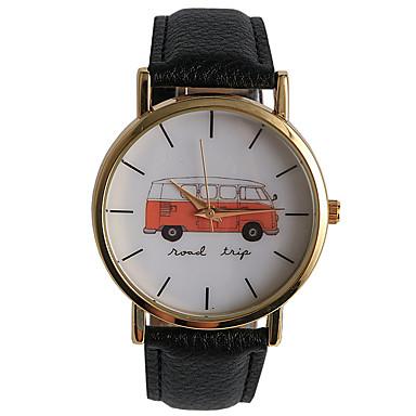 للرجال ساعات فاشن ساعة المعصم ساعة كاجوال كوارتز / جلد فرقة عتيقة سحر ساعة عالمية أسود الأبيض بني