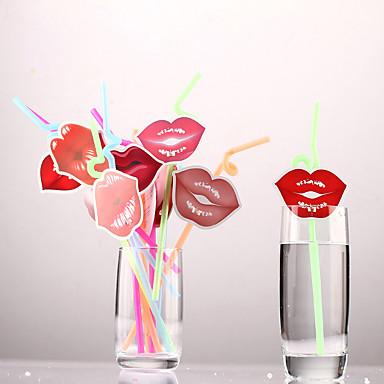 Εγχρωμος Διάφορων ειδών Ποτήρια, # ml Μιας χρήσης Πλαστικό Χαρτί Χυμός Νερό Καλαμάκια