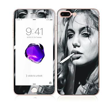 για Apple iPhone 7 4.7 γυαλί με το μπροστινό μαλακό άκρο πλήρη κάλυψη της οθόνης και πίσω προστατευτικό οθόνης μοτίβο σέξι κυρία