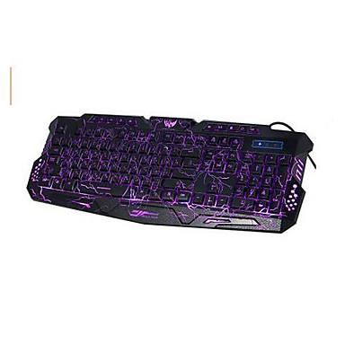 m - 200 dwujęzyczne 3 kolory podświetlenia klawiatury przewodowej gier