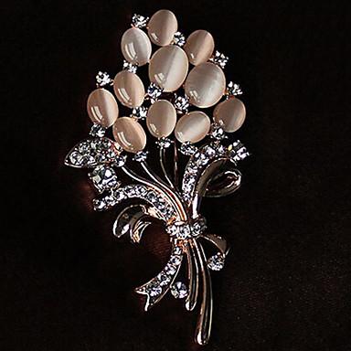 ieftine Broșe-Pentru femei Broșe Floare femei Ștras Opal Broșă Bijuterii Auriu Pentru Petrecere Casual