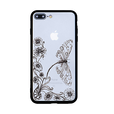 Na Wzór Kılıf Etui na tył Kılıf Motyl Twarde Akrylowy na Apple iPhone 7 Plus iPhone 7 iPhone 6s Plus/6 Plus iPhone 6s/6 iPhone SE/5s/5