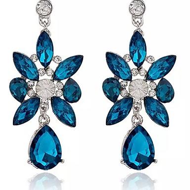 Kolczyki wiszące Kryształ Kryształ Stop Biżuteria Impreza Codzienny Casual Biżuteria kostiumowa