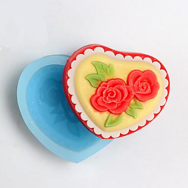 الخبز العفن وردة لكعكة لالشوكولاته لكاندي سيليكون رأس السنة عيد الشكر غير لاصقة صديقة للبيئة عيد ميلاد عطلة