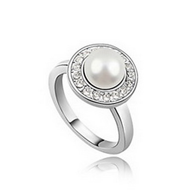 Damskie Pierscionek Natura Perłowy Imitacja pereł Skórzany Złota Perła Czarna Perła Stop Biżuteria Na Codzienny