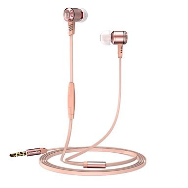 Langsdom m410 metal ahşap kulaklıklar mircophone iplik hattı ile stereo müzik kulaklık iphone için samsung huawei xiaomi