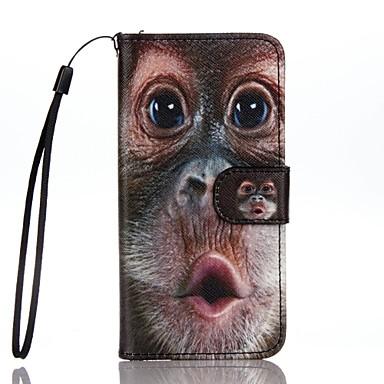 tok Για Apple iPhone 7 Plus iPhone 7 Θήκη καρτών Πορτοφόλι με βάση στήριξης Ανοιγόμενη Με σχέδια Πλήρης Θήκη Ζώο Σκληρή PU δέρμα για