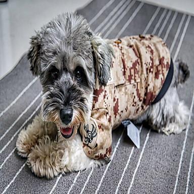 كلب المعاطف ملابس الكلاب الرياضات تمويه تمويه اللون كوستيوم للحيوانات الأليفة