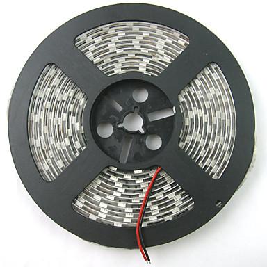 0.3M / 5m أضواء قطاع المتنامية 300 المصابيح أحمر / أزرق قابل للقص / ضد الماء / قابلة للربط 12 V / 5050 SMD / IP65 / اللصق التلقي
