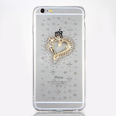 Için Taşlı Kendin-Yap Pouzdro Arka Kılıf Pouzdro Kalp Sert Akrilik için AppleiPhone 7 Plus iPhone 7 iPhone 6s Plus iPhone 6 Plus iPhone