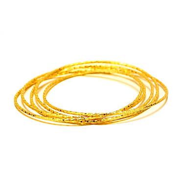 Pozłacane Bransoletki bangle - Vintage Natura Modny Zaokrąglanie Circle Shape Gold Bransoletki Na Prezenty bożonarodzeniowe Ślub Impreza
