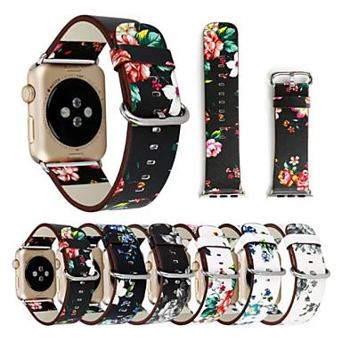 Zegarek na zegarek jabłkowy seria 1 2 38mm 42mm klasyczna klamra oryginalna taśma do wymiany skóry