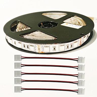 0.3M / 5m أضواء قطاع المتنامية 300 المصابيح 5050 SMD أحمر / أزرق قابل للقص / قابلة للربط / اللصق التلقي 12 V