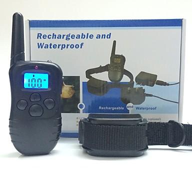 Lese Antrenament Câini Ajustabile / Retractabil Telecomandă Electronic/Electric Antrenament Vibrație Mată Negru