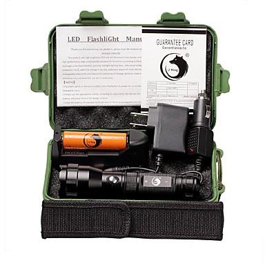U'King Latarki LED LED 1500 lm 3 Tryb Cree XP-E R2 z baterią i ładowarkami Obóz/wycieczka/alpinizm jaskiniowy Do użytku codziennego