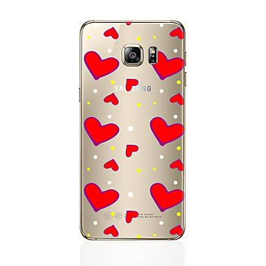 tok Για Samsung Galaxy S7 edge S7 Διαφανής Με σχέδια Πίσω Κάλυμμα Καρδιά Μαλακή TPU για S7 edge S7 S6 edge plus S6 edge S6 S5 S4