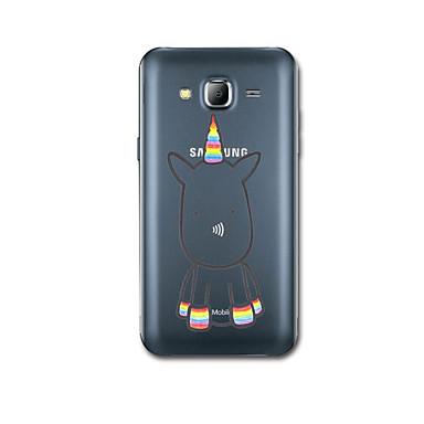 Etui Käyttötarkoitus Samsung Galaxy J7 (2016) J5 (2016) Ultraohut Kuvio Takakuori Yksisarvinen Pehmeä TPU varten J7 (2016) J5 (2016)