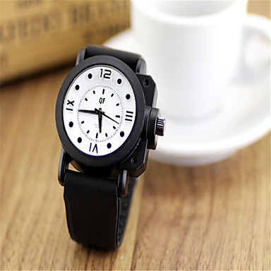 Erkek Kadın's Moda Saat Quartz Plastic Bant İhtişam Siyah